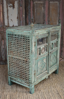 Old Tribal Chicken Cage with Antique Mirrorwork <b>SOLD<b>